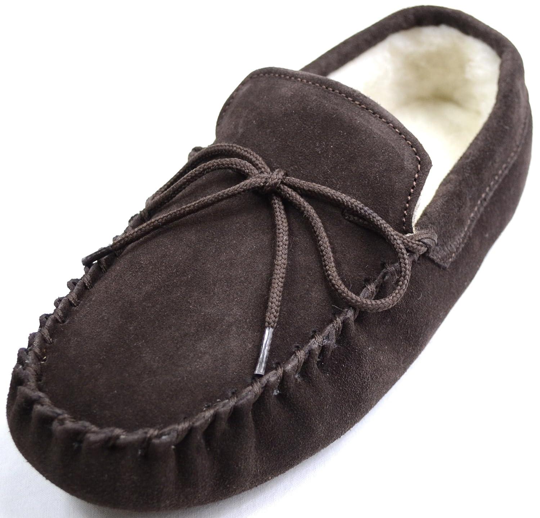 Leather Moccasins Mens Mens Sheepskin Suede Moccasin