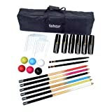 Hathaway Deluxe 6-Player Croquet Set Multi (Color: Multi, Tamaño: 33.5