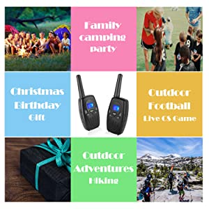 Walkie Talkies for Adults, Topsung M880 FRS Two Way Radio Long Range with VOX Belt Clip/Hand Held Walky Talky with 22 Channel 3 Mile for Family Home Cruise Ship Camping Hiking (Black 2 in 1) (Color: 880black)