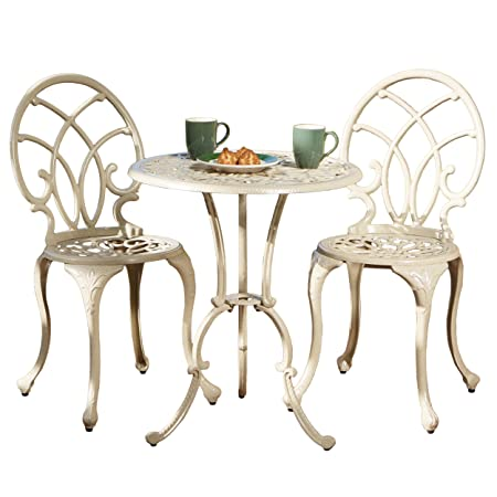 Best Selling Anacapa Cast Aluminum Bistro Set, Sand Finish