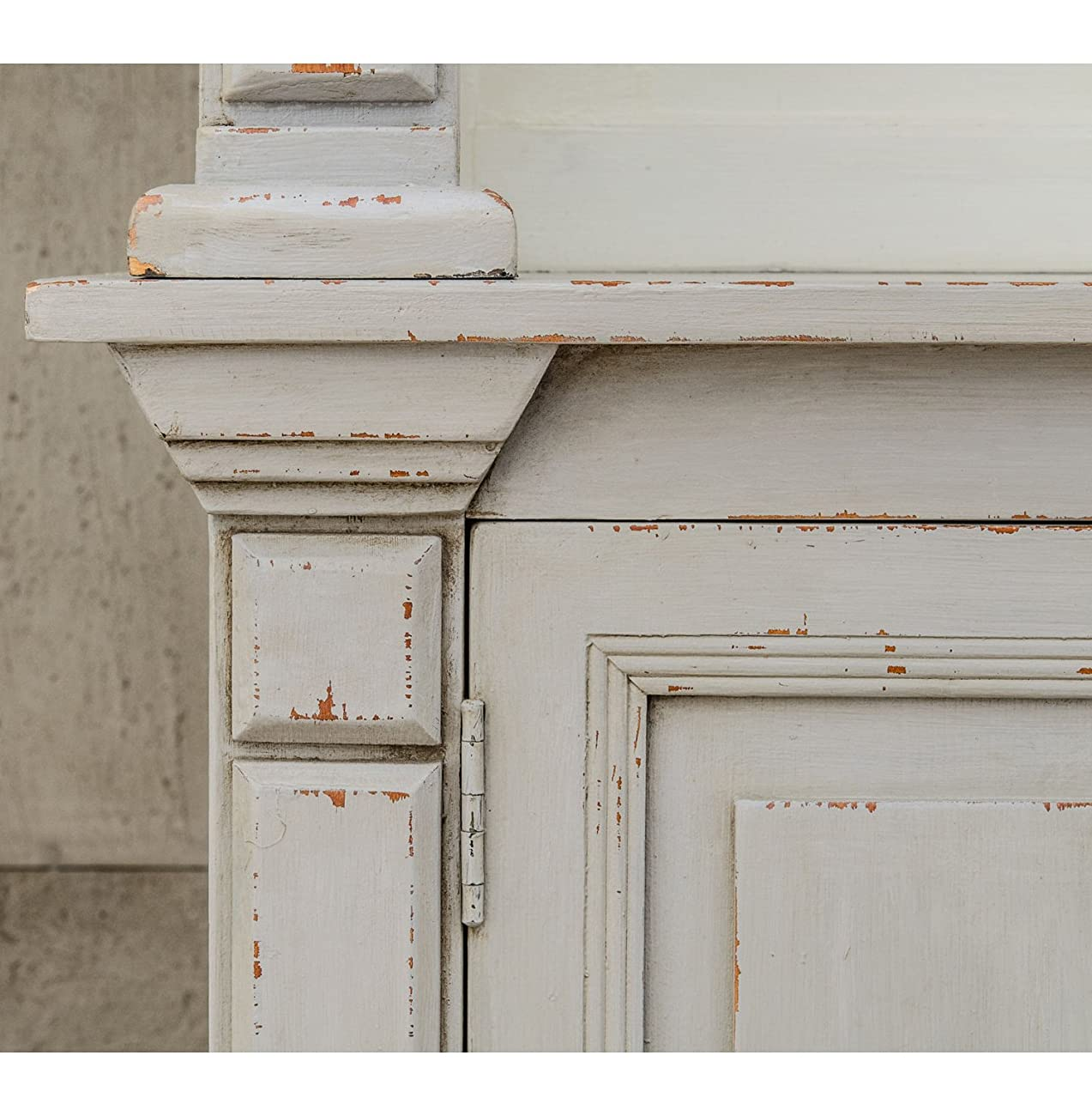 Laundress French Country Distressed Grey Large Display Bookcase 3