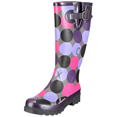 Roxy Violet Polka Dot Boots