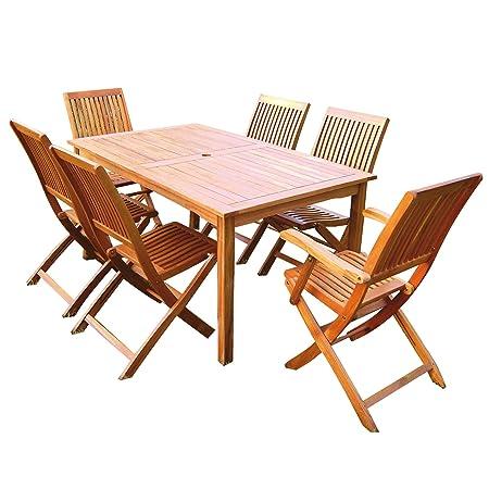 """Muebles de jardín """"Santa Cruz"""" en madera de acacia"""