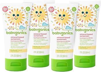 4-Pack Babyganics SPF 50 Baby Sunscreen Lotion