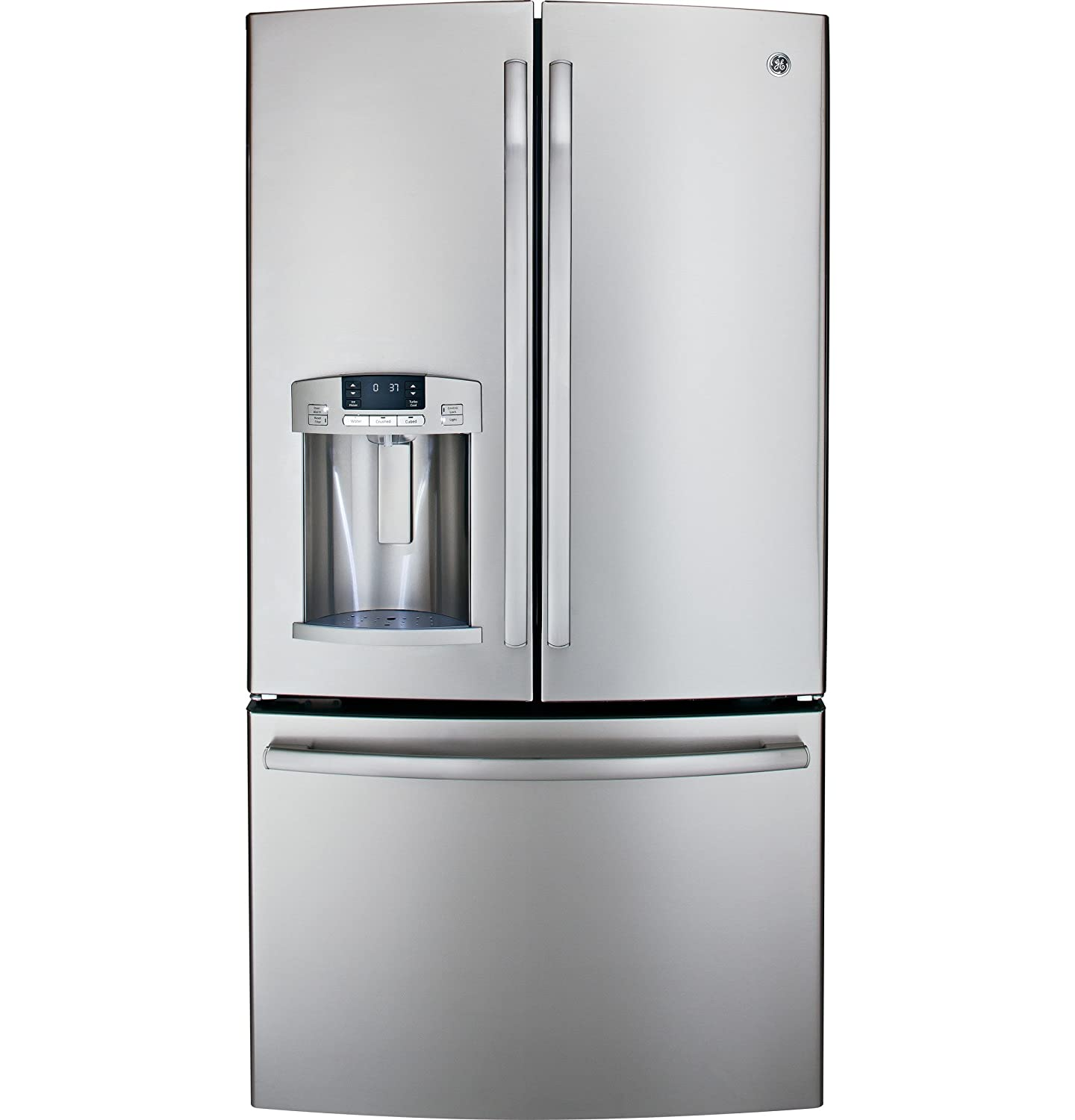 "GFE29HSDSS GE 27.7 Cu. Ft. French-Door Refrigerator Stainless Steel ""Out of Box"""