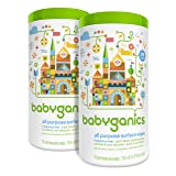 Babyganics All Purpose Surface Wipes, Fragrance Free, 150 Count (contains Two 75-count canisters) (Tamaño: 75 count (Pack of 2))