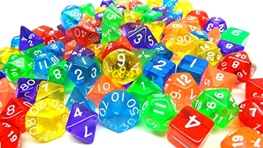 Bulk Colored Gaming Dice