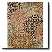 Brown and Beige Modern Floral 8x10 Area Rug