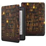 MoKo Case for Kindle Paperwhite, Premium Thinnest and Lightest PU Leather Cover with Auto Wake/Sleep for Amazon All-New Kindle Paperwhite (Fits 2012, 2013, 2015, 2016 and 2017 Versions), Library (Color: Z-Library)