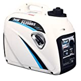 Pulsar 2,000W Portable Gas-Powered Quiet Inverter Generator with USB Outlet & Parallel Capability, CARB Compliant, PG2000iS (Color: White, Tamaño: 2000w)