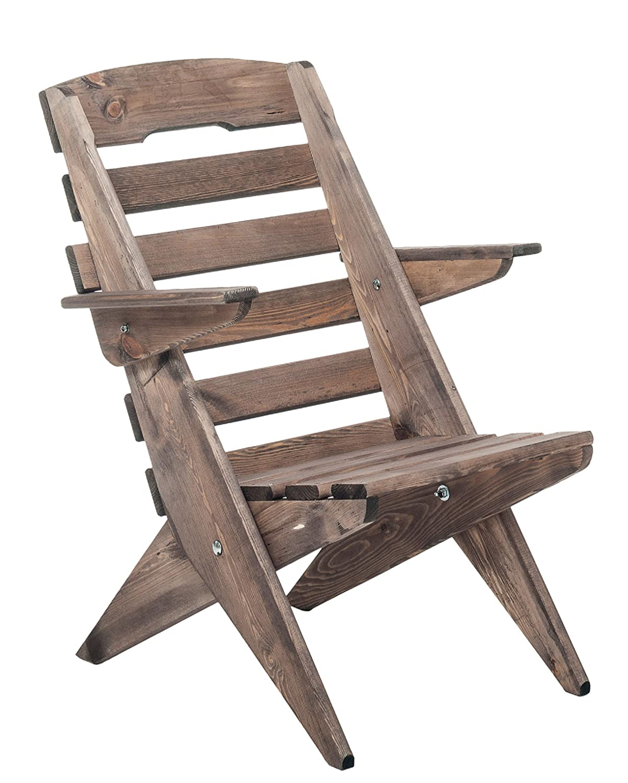 Massivholz-Stuhl, dunkelbraun, klappbarer Stuhl, Klappstuhl, Gartenstuhl, Holzstuhl