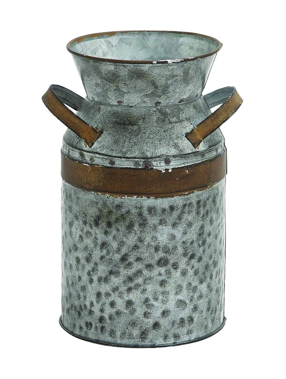 Benzara 93994 Asiatic Antique Metal Galvanized Milk Can 0