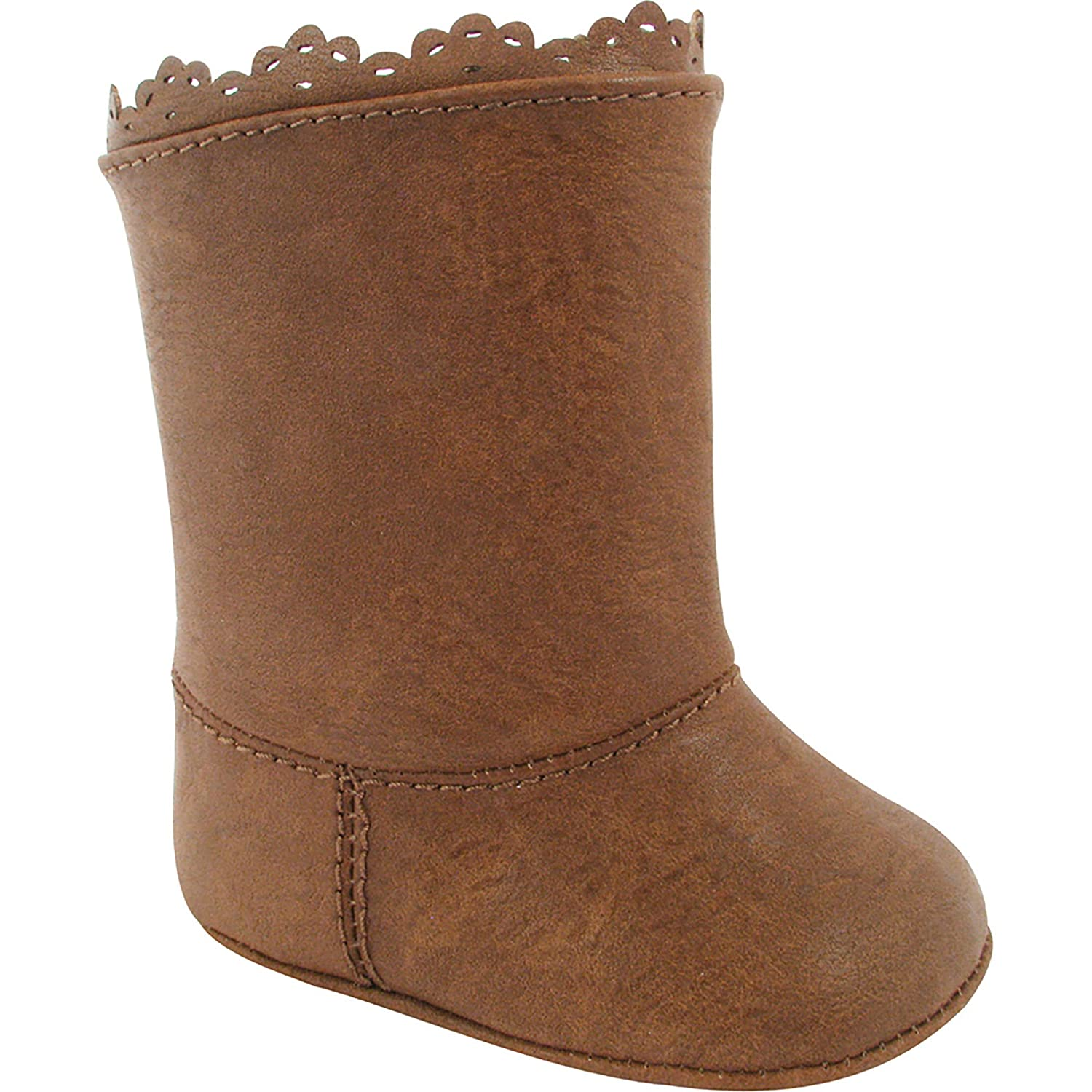 Baby Deer Infant Girls Brown Boots Crib Shoes Tan