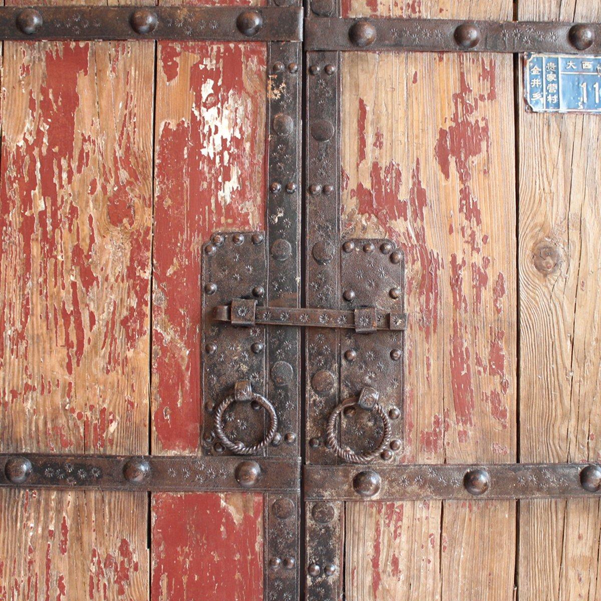 Antique Wood & Iron Garden Gate 1