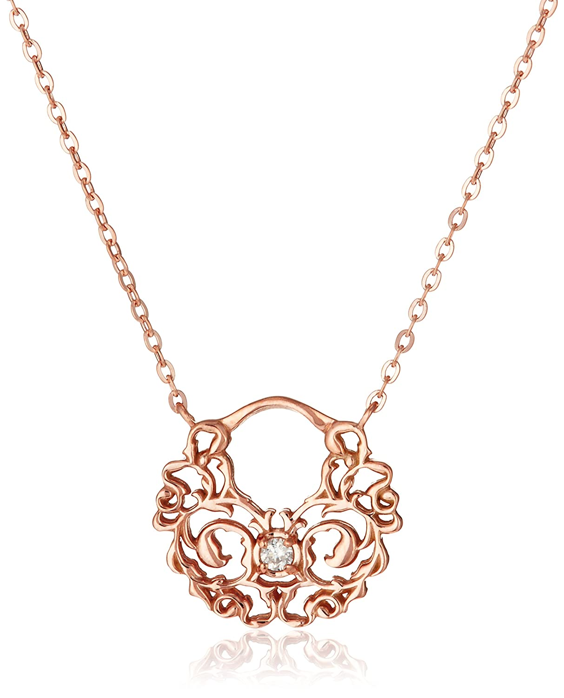 Amazon.co.jp: [アガット] agete 【K10PGダイヤモンドネックレス】 1014411606408999: ジュエリー通販