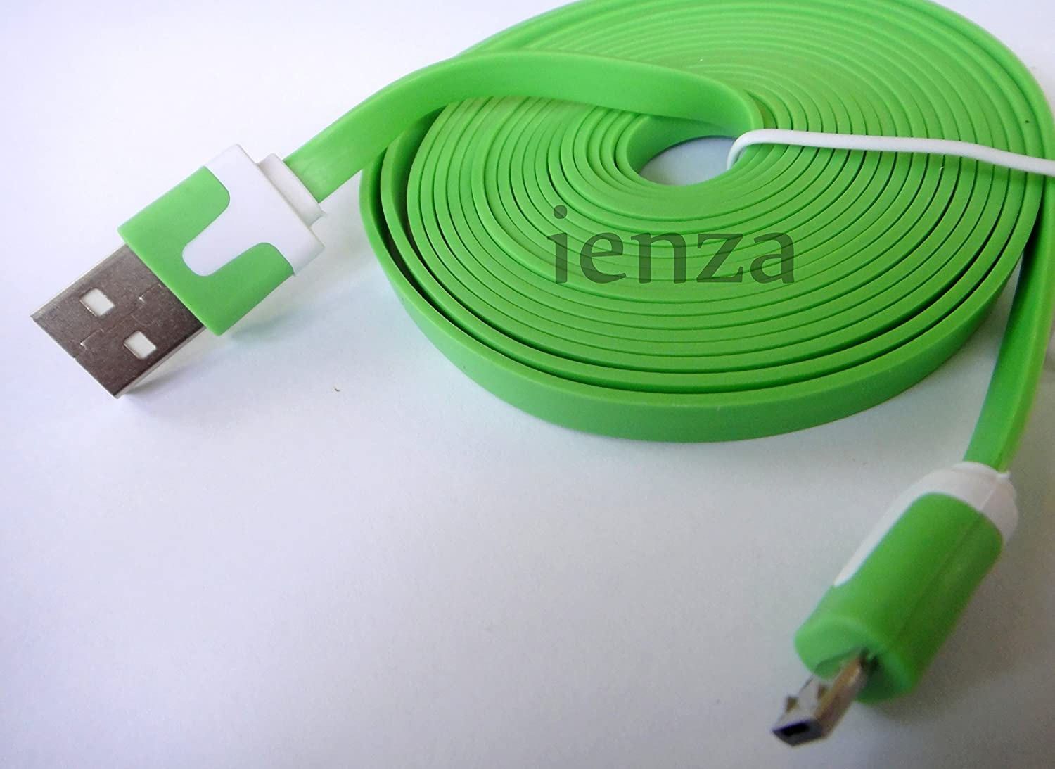 10ft Controller USB Charging Cable for Xbox One (Green) by ienza