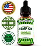 Hemp Oil Extract - Pain, Anxiety & Stress Relief - 500mg of Natural Hemp Extract - Grown & Made in USA - Advanced Formula - Anti-Inflammatory & Joint Support - Rich in Omega 3, 6 & 9