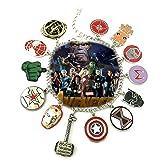 Marvel Infinity War AVENGERS ( 11 Themed Charms) Metal/Enamel Charm BRACELET By Superheroes Brand