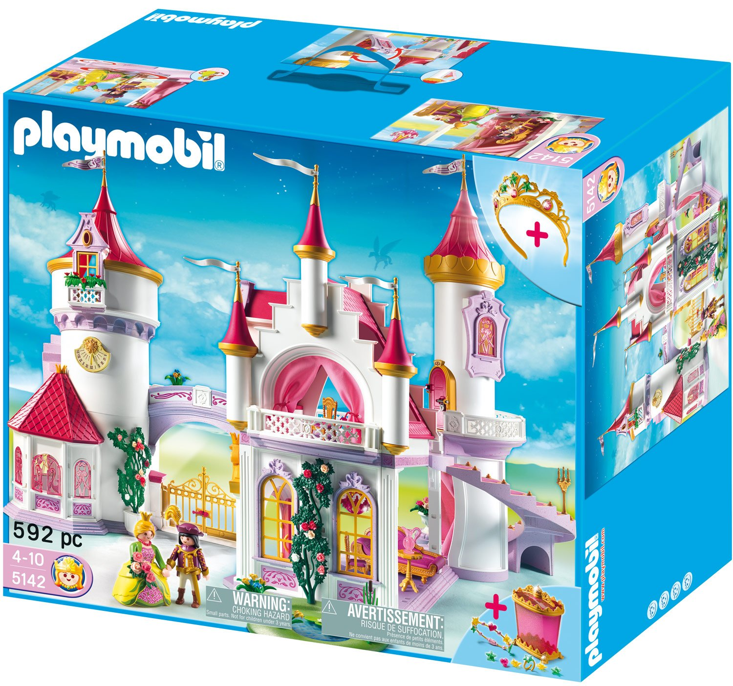 Playmobil schloss for Chateau playmobil princesse 5142