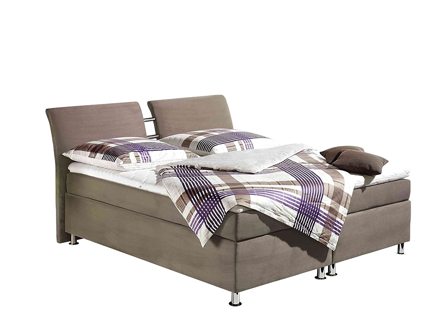 Maintal Betten 235860-4750 Boxspringbett Dean 180 x 200 cm, taupe