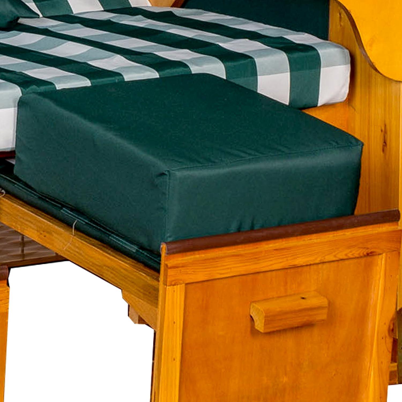 Strandkorb Auflagekissen-Set für Fussablage, grün, 2er Set, LILIMO ® günstig bestellen