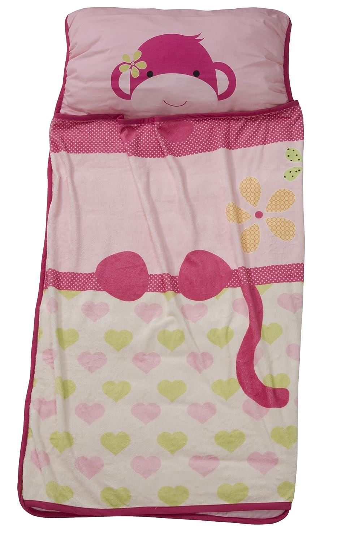 Lambs & Ivy Nap Mat Pink Monkey