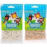 Perler Bead Bag 1000, Bundle of Toasted Marshmallow and Fawn (2 Pack) (Color: Toasted Marshmallow & Fawn)
