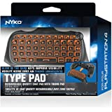 Nyko Type Pad - PlayStation 4 with Built-in Rechargeable Battery, Built-in Speaker without the need for a Headset, .com Shortcut and Full QWERTY Style Keyboard (Color: Orange)