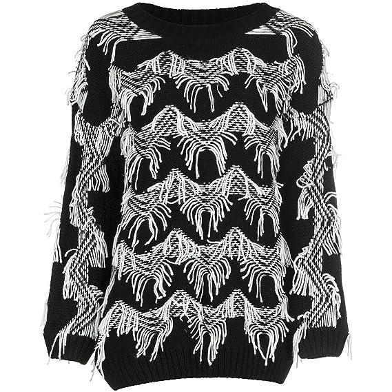 MINKPINK Women's Lost In Space Fringe Pullover Sweater