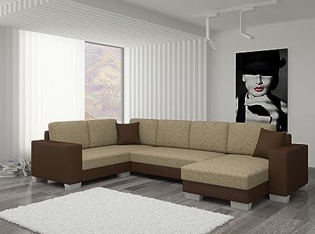 Couch Couchgarnitur Sofa Polsterecke MC 03 U Wohnlandschaft Schlaffunktion