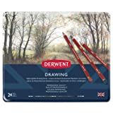 Derwent Colored Drawing Pencils, Metal Tin, 24 Count (0700672) (Tamaño: 24 Count)