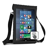 12 Inch Tablet Case Cover Holder w/ Capacitive Screen Use & Shoulder Carry Strap by USA Gear - Sleeve Fits Samsung Galaxy TabPro S 12