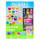 Youniverse Mix & Create Your Own Rainbow Soaps Craft Kit, Assorted/Multicolor (Color: Assorted/Multicolor)