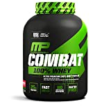 MusclePharm Combat 100% Whey – 25Gs of a Ultra-Premium, Gluten-Free, Low Fat Blend of Fast-Digesting Whey Protein for Performance, Recovery, and Muscle Building, Strawberry, 5 Pound, 73 Servings (Color: Red, Tamaño: 5 lb.)