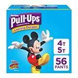 Pull-Ups Learning Designs Training Pants for Boys, 4T-5T (38-50 lbs.), 56 Count, Toddler Potty Training Underwear, Packaging May Vary