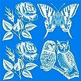 UV Bird Alert Collision Window Decals (Color: White, Tamaño: 8 Sheets 9