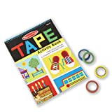 Melissa & Doug Tape Activity Book: 4 Rolls of Easy-Tear Tape and 20 Reusable Scenes (Color: Multi-colored)