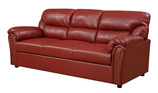Glory Furniture G269-S Living Room Sofa, Red