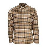 BURBERRY Men's Alexander Camel Check Shirt XXL (Color: Camel, Tamaño: XX-Large)