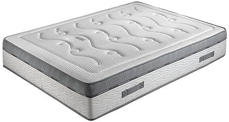 Crown Bedding j88101500Royal Spring 800Matratze mit Taschenfederkern + Kaltschaum-Gel Memory-Form Weiß 190x 140x 24cm