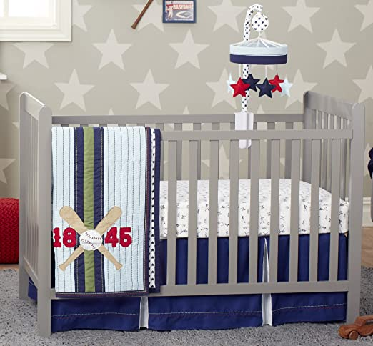 Just Born Vintage Sport Crib Bedding