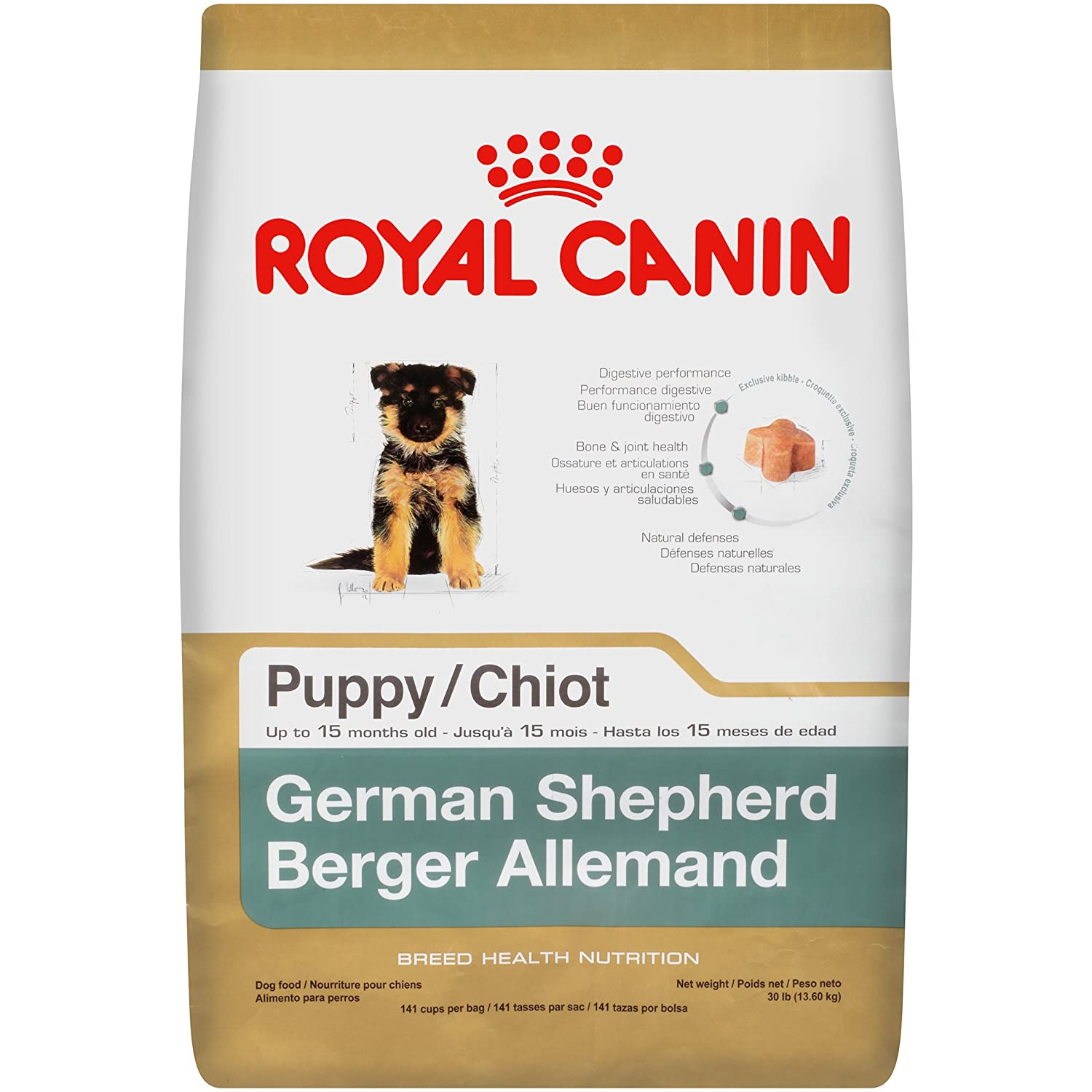 royal canin german shepherd puppy dry dog food 30 pound bag new free shippin ebay. Black Bedroom Furniture Sets. Home Design Ideas