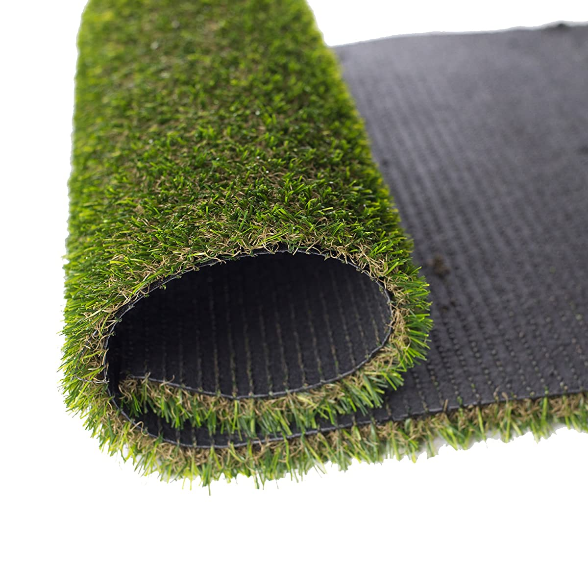 "GOLDEN MOON Artificial Grass Rug Series PE Indoor/Outdoor Green Decorative Synthetic Artificial Grass Turf Area Rug 1"" Pile Height 3x5"