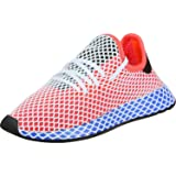 adidas Originals Deerupt Runner J Solar Red Textile 7 M US Big Kid