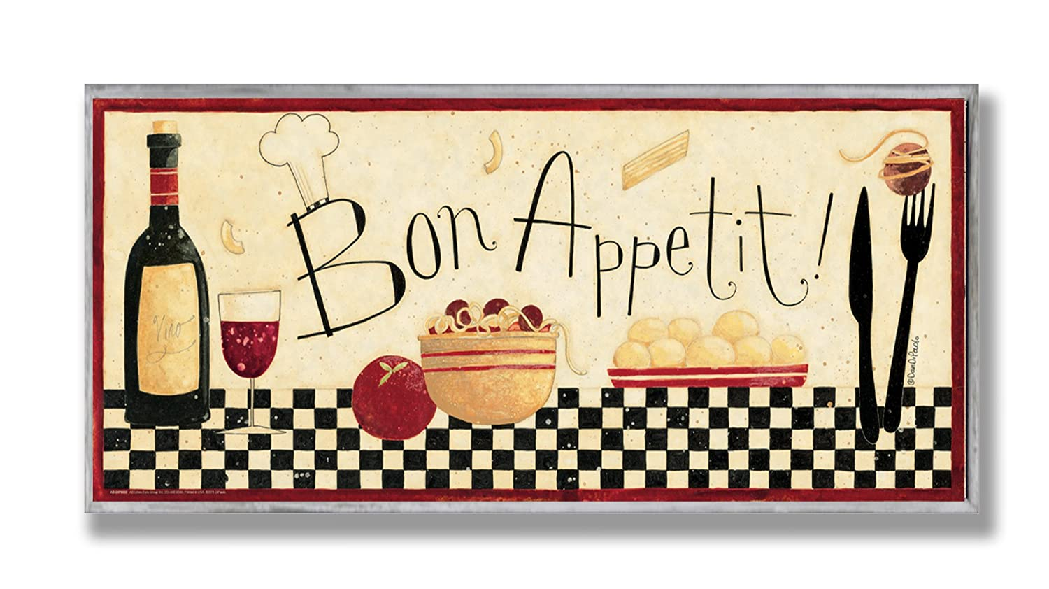 Bon Appetit Kitchen Wall Art