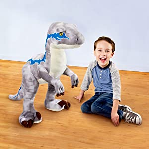 Jurassic World Velociraptor Blue Plush (Color: Multi Color, Tamaño: 36 inches)