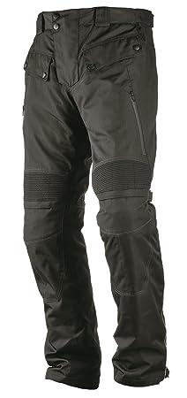 NERVE 15110709104_24 Spider Pantalon de Moto Bretelles Touring Textile, Noir, Taille : L