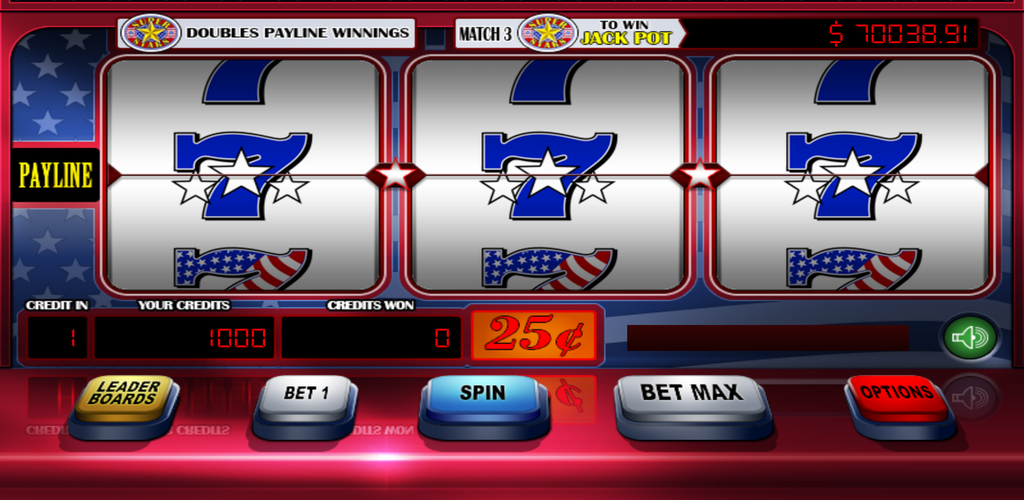 Slots red white blue