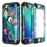 Lamcase for iPod Touch 7th Gen 2019 Case, iPod Touch 7/6/5 Case Shockproof Hybrid Rubber Dual Layer Armor Protective Case Cover for Apple iPod Touch 7th/6th/5th Generation, Mandala/Galaxy (Color: Mandala/Galaxy)