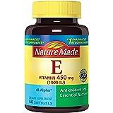 Nature Made Vitamin E 1000 IU (dl-Alpha) Softgels (Pack of 3) (Tamaño: 180)